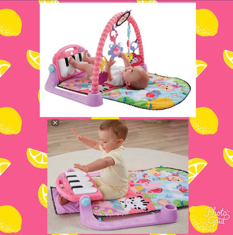 Fisher Price Kick 'n Play Gym Piano, Pink