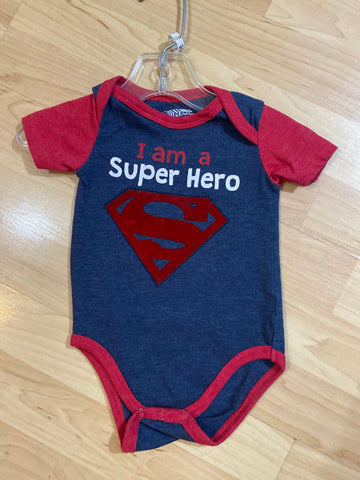 Superman Bodysuit, Size 3-6M