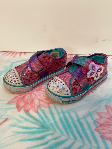 Skechers Twinkle Shoes, Size 6