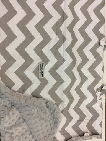 Car Seat Canopy, Grey Chevron