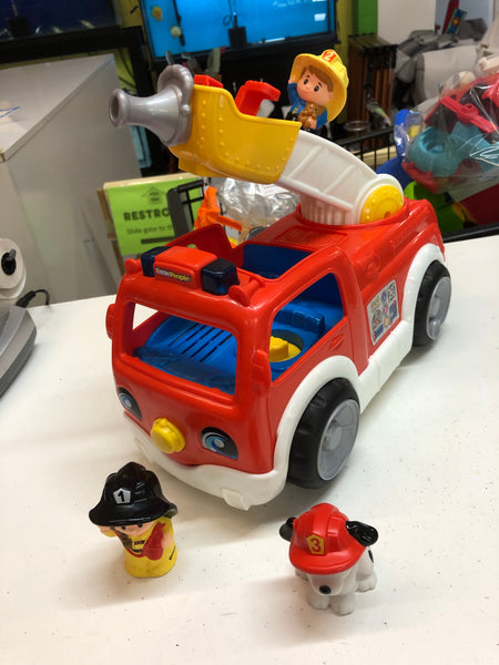 Fisher Price Little People Lift n Lower Fire Truck