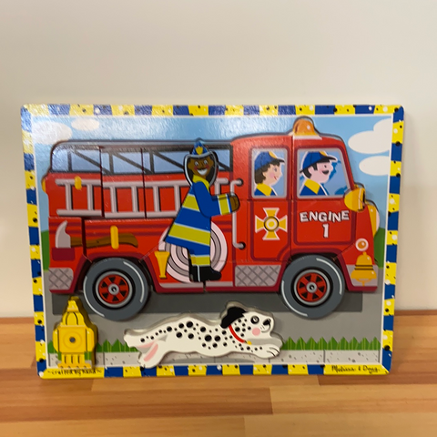 Melissa & Doug Chunky Puzzle, Fire Truck