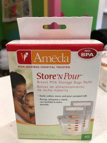 New Ameda Store & Pour Breastmilk Bags 40ct