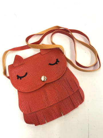 New Owl Leather Mini Crossbody