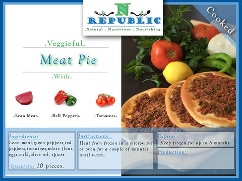 Veggieful Meat Pie (ready to serve)