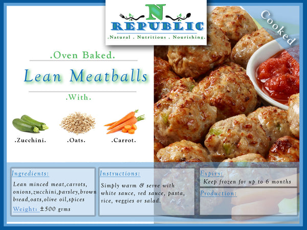 Baked Lean Meatballs - ( Ready to serve )