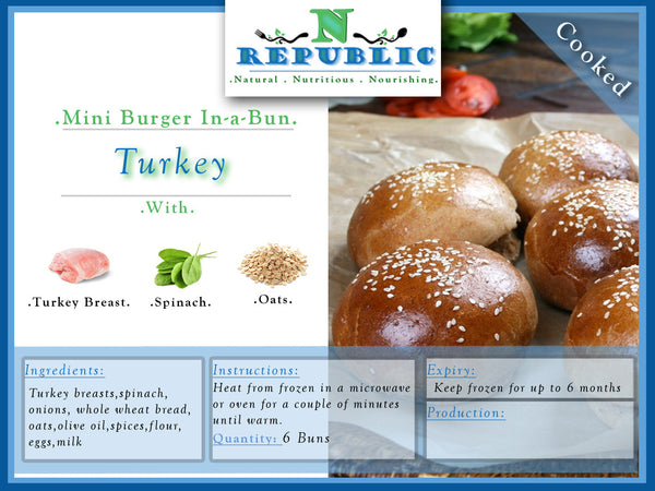 Mini Burger In-a-Bun : Turkey (Ready to Serve)