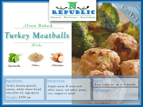 Baked Turkey Meatballs - (ready to serve)