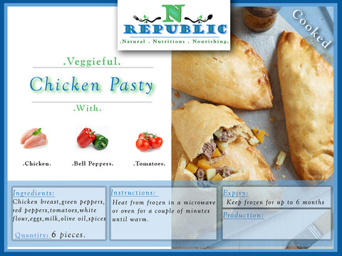 Veggieful Chicken Pasty (ready to serve)