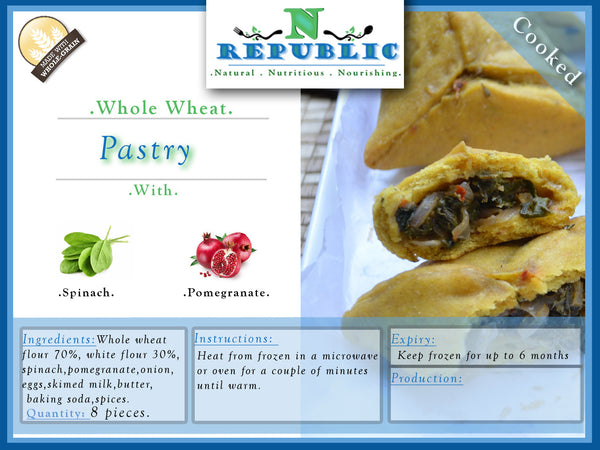 Whole Wheat Spinach Pastry ( Ready to Serve)