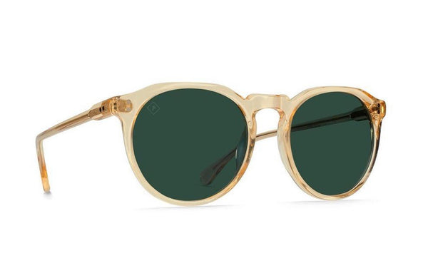 RAEN - Remmy Sunglasses - Champagne Crystal/Green Polarized