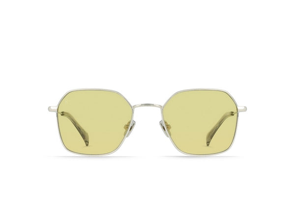 RAEN - Varlin Sunglasses - Silver/Fog Crystal/Yellow