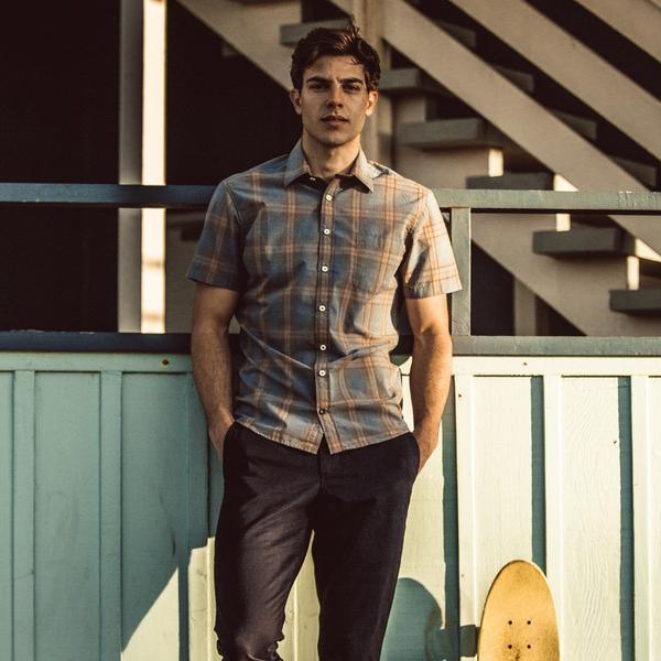Taylor Stitch - The Short Sleeve California in Melange Plaid