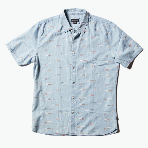Barney Cools - Holiday Short Sleeve Shirt Indigo Hanglider