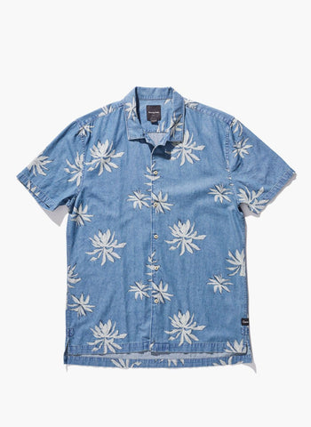 Barney Cools - Fern Button-Up SS Shirt Indigo