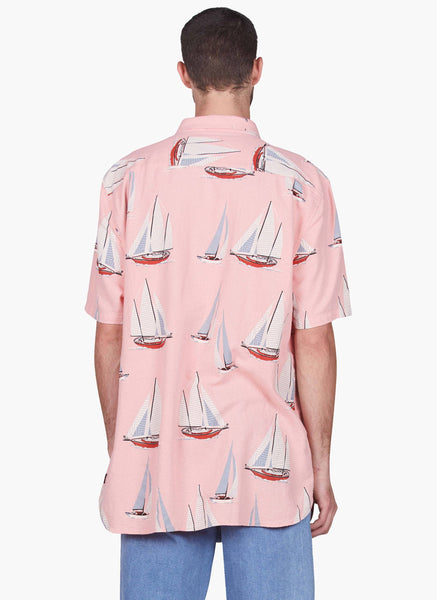 Barney Cools - Yacht Club Button-Up SS Shirt Pink
