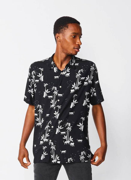 Barney Cools - Holiday Short Sleeve Shirt Black Tiger