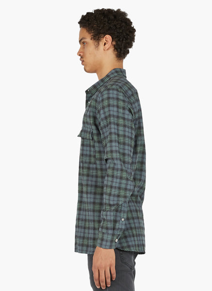 Barney Cools - Cabin Shirt Washed Blue Plaid