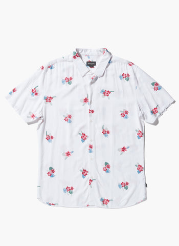 Barney Cools - Holiday Short Sleeve Shirt White Floral