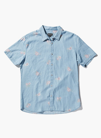 Barney Cools - Holiday Short Sleeve Shirt Indigo Floral