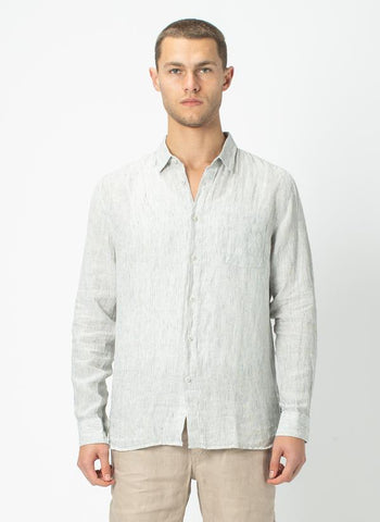 Barney Cools - Cabin Long Sleeve - Linen Stripe
