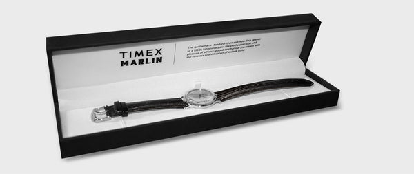 Timex - Marlin 34mm Hand-Wound Leather Strap Watch