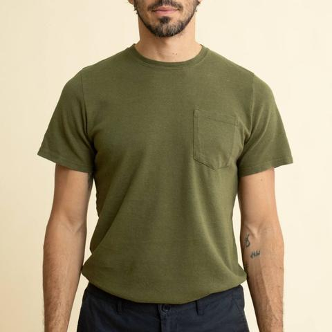 Jungmaven - Baja Pocket Tee <br> Supply Green