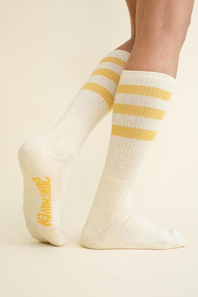 Jungmaven Long Crew Socks <br>Sunray Three Stripe