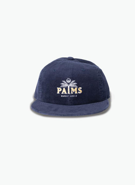 PALMS BASEBALL 6-PANEL NAVY CORDUROY