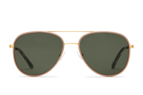 Article One - North Sunglasses Brushed Gold and Taupe