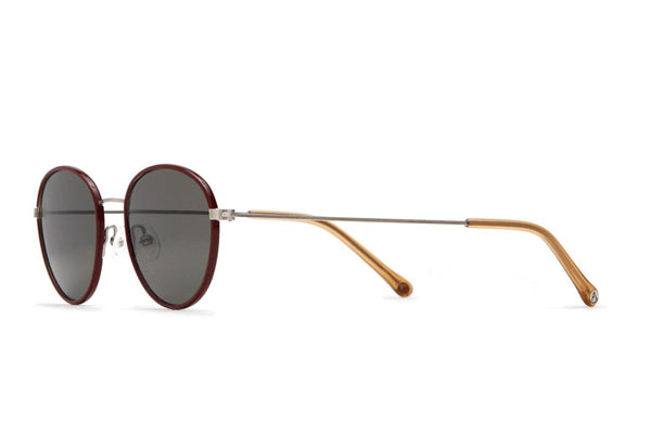 Article One - Walsh Sunglasses Brushed Silver and Burgundy