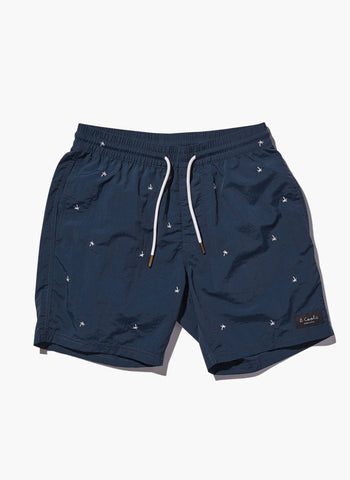 Barney Cools - Amphibious 17″ Navy Palm Shorts