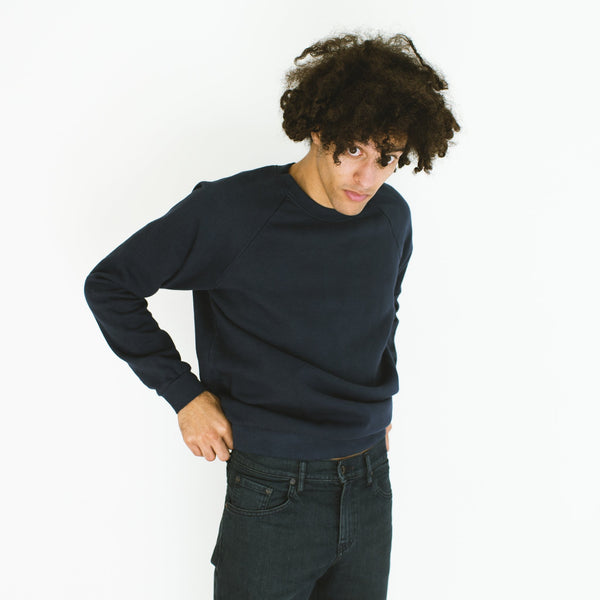 Raleigh Denim Workshop - Raglan Sweatshirt Space Blue