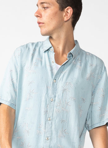 Barney Cools - Holiday Short Sleeve Shirt Indigo Tiger