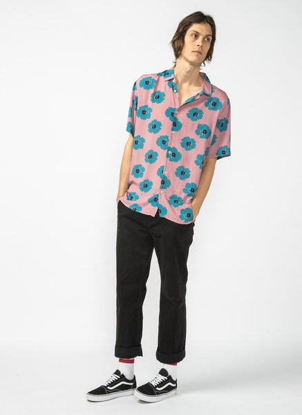 Barney Cools - Holiday Short Sleeve Shirt - Rose Hibiscus