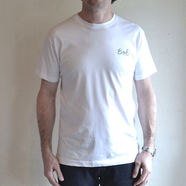 Hemingway and Sons x Bijou Karman - 'Bob' Tee <br> White