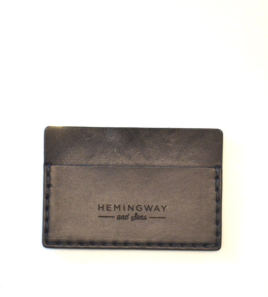 Hemingway and Sons - Card Wallet Black