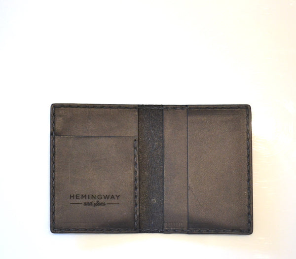 Hemingway and Sons - Card Fold Wallet Black