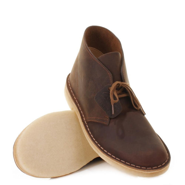 d3be21f9f123 Clarks - Desert Boot Brown Beeswax Leather – Hemingway and Sons