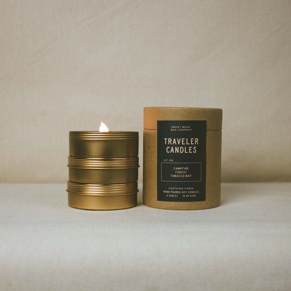Great Bear Wax Co. Traveler Candles Set One