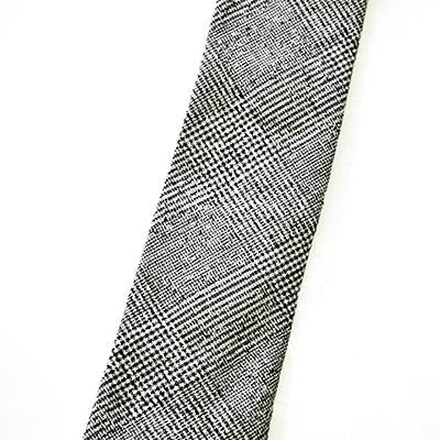 Gold Coast - Pointed Necktie - Navy Plaid Wool