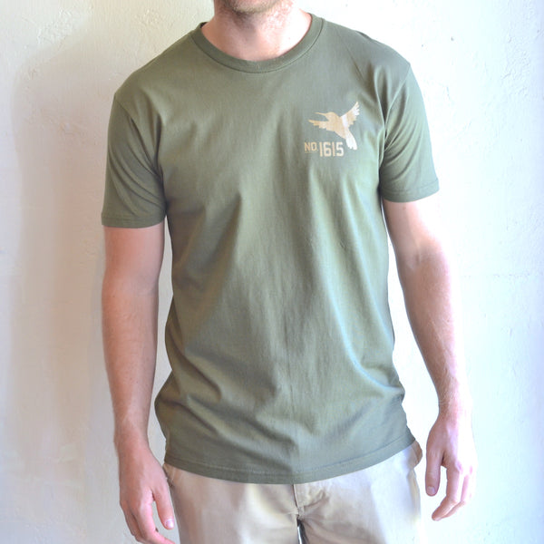 "Silver Lake Track Club - ""Hummingbird"" Tee Army Green"