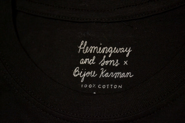 Hemingway and Sons x Bijou Karman - 'Bob' Tee <br> Black