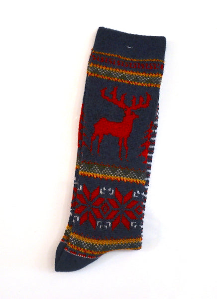 Anonymous Ism - Knit Socks Deer Crew Red