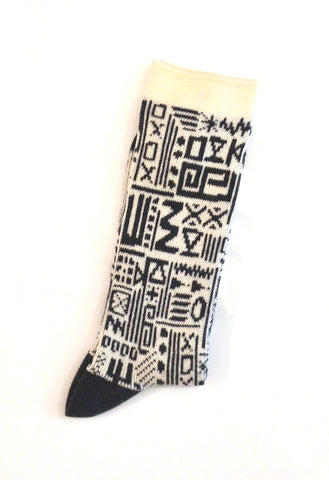 Anonymous Ism - Knit Socks African Geo Crew Grey