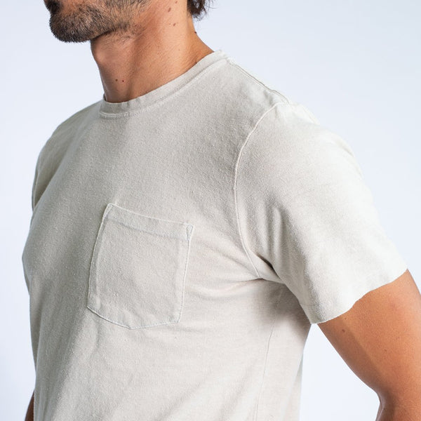 Jungmaven - Baja Pocket Tee <br>Washed White