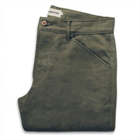 Taylor Stitch - Camp Pant <br>Olive Drab Herringbone