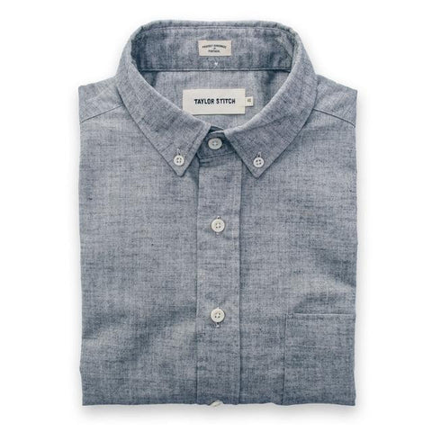 Taylor Stitch - Short Sleeve Jack<br>Steel Chambray