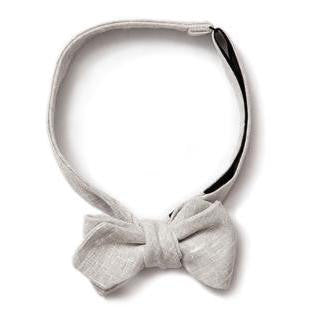 Gold Coast - Pointed Bow Tie <br> Ash Linen