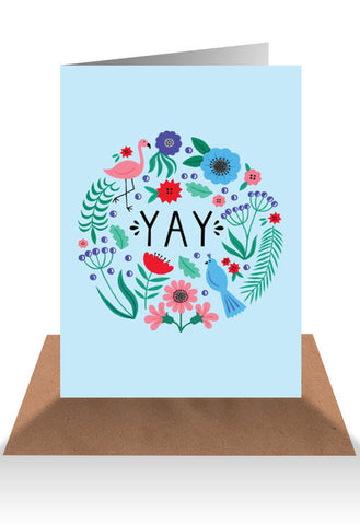 AHD Paper Co. Greeting Card 'YAY'